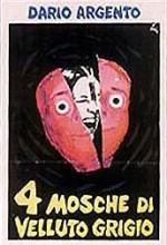 4 mosche di velluto grigio (1971) afişi
