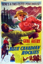 Blue Canadian Rockies (1952) afişi