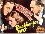 Breakfast For Two (1937) afişi