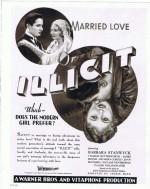 Illicit (1931) afişi