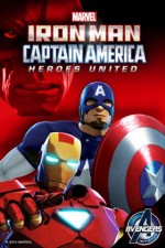 Iron Man and Captain America: Heroes United (2014) afişi