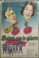 Sabrás Que Te Quiero (1958) afişi