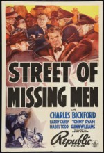 Street Of Missing Men (1939) afişi