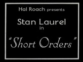 Short Orders (1923) afişi