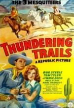 Thundering Trails (1943) afişi