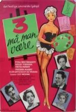 Tre Må Man Være (1959) afişi