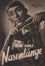 Um Eine Nasenlänge (1949) afişi