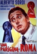 Una Parigina A Roma (1954) afişi