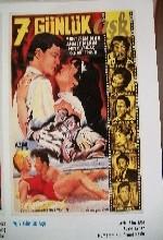 Yedi Günlük Aşk (1961) afişi
