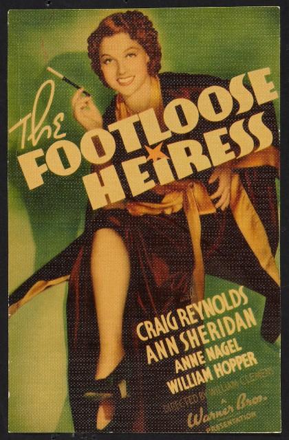 The Footloose Heiress (1937) afişi