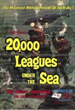 Denizler Altında 20.000 Fersah (1954) afişi