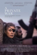 A Private War (2018) afişi