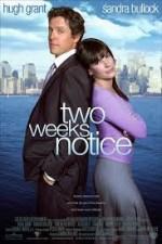 Aşka İki Hafta (2002) afişi