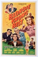 Blondie Knows Best (1946) afişi