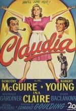 Claudia (1943) afişi