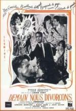 Demain Nous Divorçons (1951) afişi