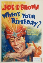 Doğum Günün Ne Zaman? (1937) afişi