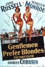 Erkekler Sarışınları Sever (1953) afişi