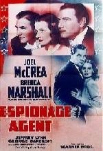 Espionage Agent (1939) afişi