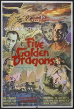 Five Golden Dragons (1967) afişi
