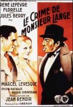 Le Crime De Monsieur Lange (1936) afişi