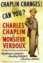 Mösyö Verdoux (1947) afişi