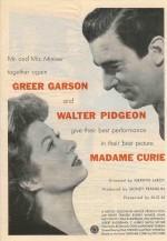 Madame Curie (1943) afişi