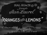 Oranges And Lemons (1923) afişi