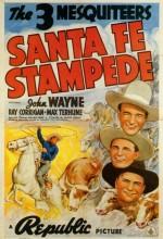 Santa Fe Stampede (1938) afişi