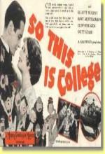 So This ıs College (1929) afişi