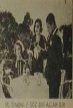Söz Bir Allah Bir (1933) afişi