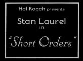 Short Orders (1923) afişi
