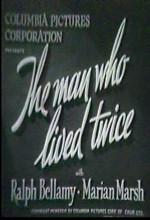 The Man Who Lived Twice (1936) afişi