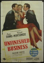 Unfinished Business (1941) afişi
