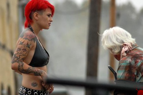 Naked women pussy exam