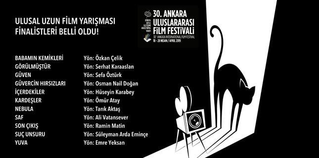 30. Ankara Uluslararası Film Festivali'nde Yarışacak Uzun Metrajlı Filmler Belli Oldu!