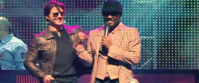 Black Eyed Peas, Tom Cruise ile Gece ve Gündüz İçin Sahnede