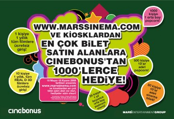 Cinebonus'tan 1000'lerce Hediye !