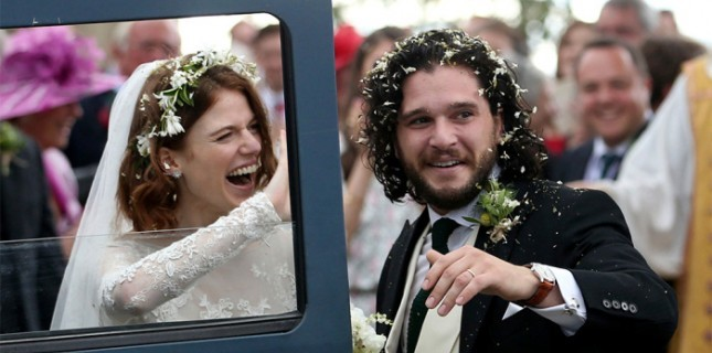 Game of Thrones Oyuncuları Kit Harington ve Rose Leslie Evlendi