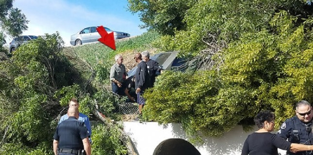 Harrison Ford kaza yapan bir kadını kurtardı
