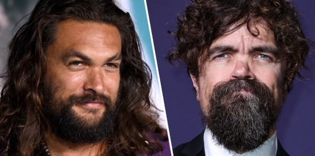 Jason Momoa ve Peter Dinklage The Good, Bad & Undead Kadrosunda
