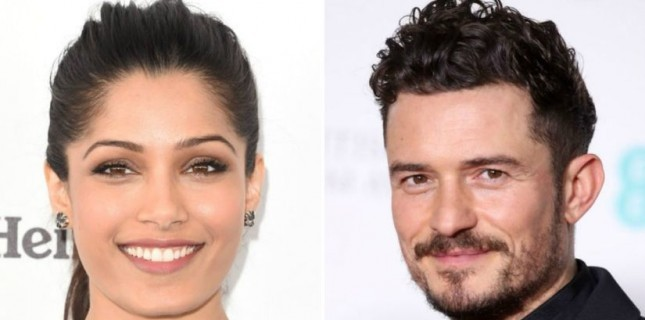 Orlando Bloom ve Freida Pinto Needle in a Timestack'in Kadrosunda