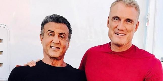 'Rocky' ve 'Ivan Drago'dan 'Creed 2' pozu!