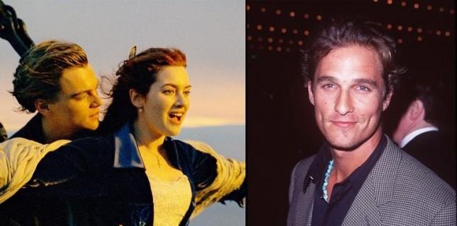 Titanic'teki Jack rolü için Matthew McConaughey düşünülmüş